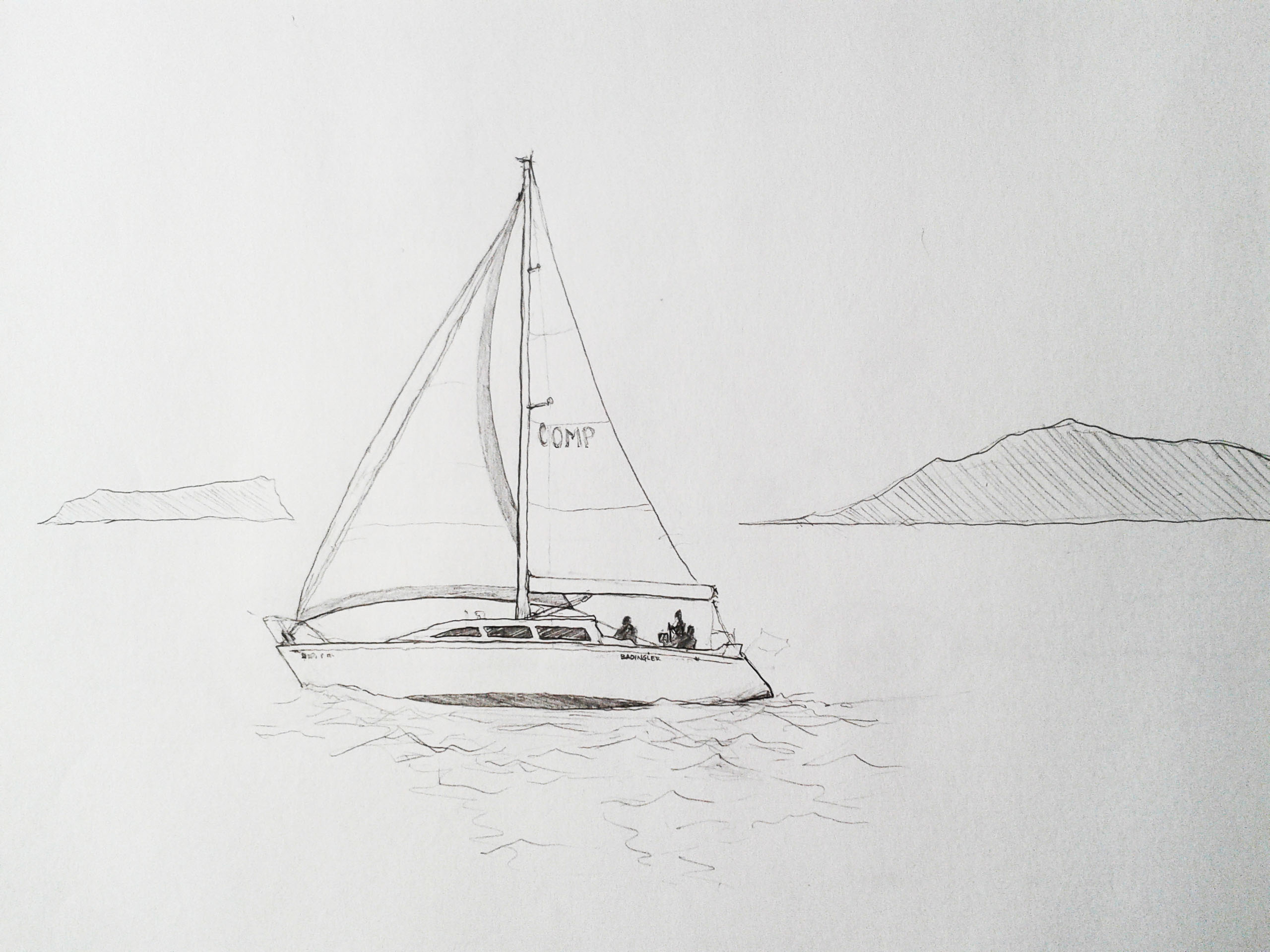 Image Gallery sailboat sketches